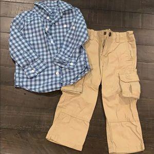 Gap Button down shirt and cargo pants